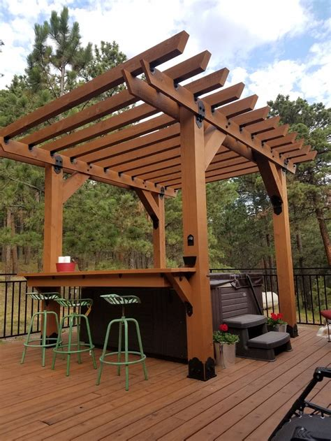 pergola tub best 25 tub pergola ideas on deck with