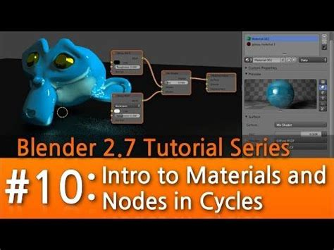 blender tutorial youtube com blender 2 7 tutorial 10 intro to materials nodes in
