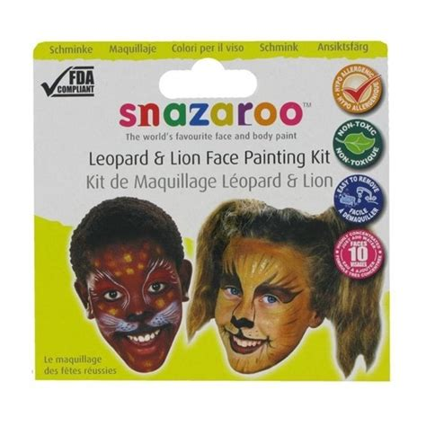 Snazaroo Leopard Painting Kit snazaroo leopard painting kit accessory from a2z uk