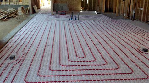 radiant garage floor heating