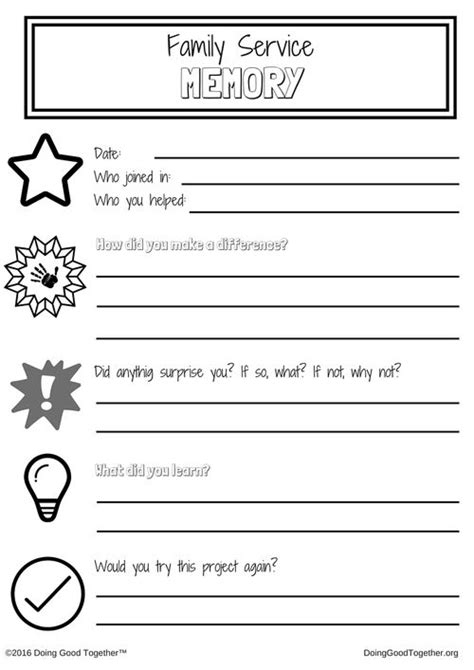 printable memory journal 17 best images about big ideas from doing good together