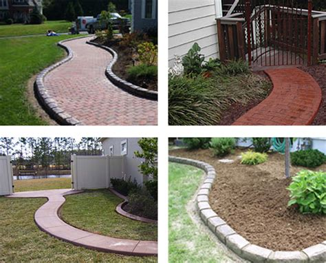 Landscape Edging Blocks The Textured Edge Decorative Concrete Landscape Edging