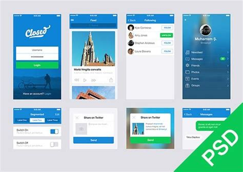 100 Of The Best And Free App Psd Ui Kits Templates Utemplates Application Ui Templates