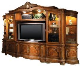 Living Room Media Center - cortina entertainment center honey walnut victorian entertainment centers and tv stands