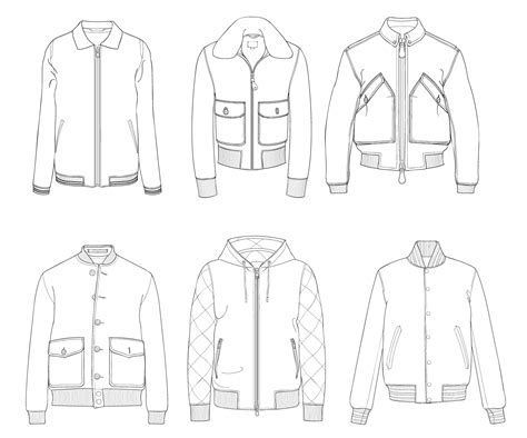 bomber jacket template bomber jacket template sketch coloring page