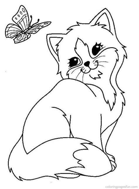 animal coloring pages kitten cats and kitten coloring pages 34 kids pinterest cat