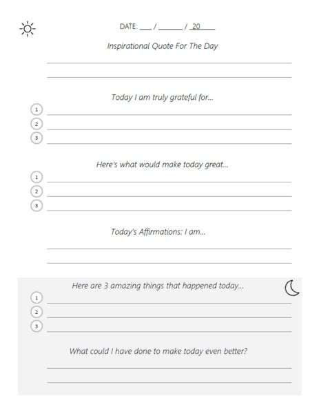 Adapted Five Minute Journal Template Pdf Do Journal 5 Minute Journal Template