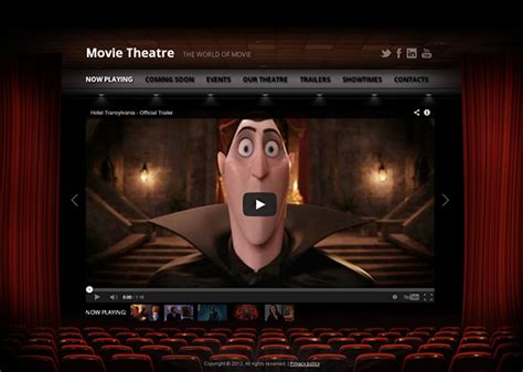 Movie Theatre The World Of Movie Html5 Template On Behance Theatre Template