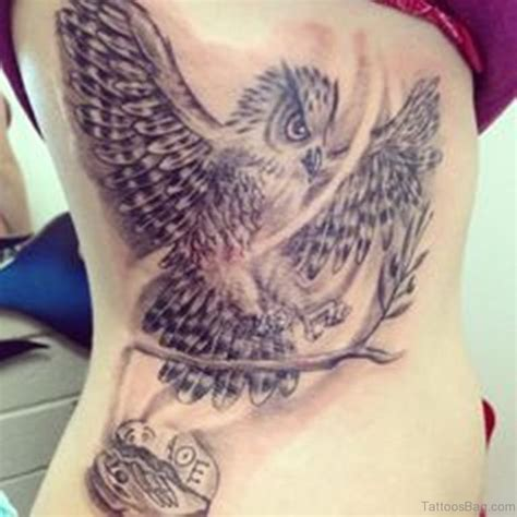 47 mind blowing owl tattoos on rib