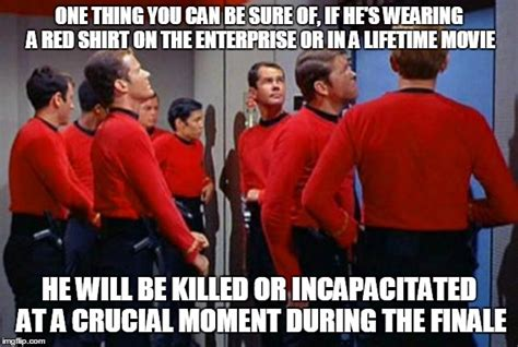 Red Shirt Star Trek Meme - star trek red shirt jokes memes