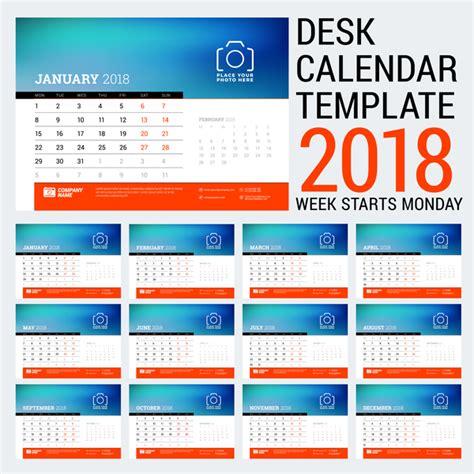 desk calendar template psd 2018 desk calendar template 2018 vector 02 vector calendar