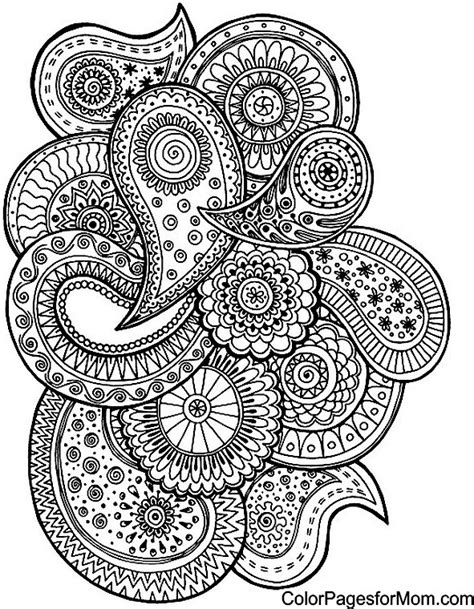 free paisley coloring pages free coloring pages of paisley print