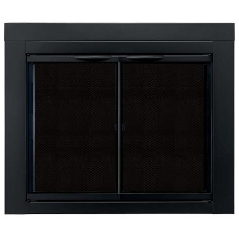 pleasant hearth alpine small glass fireplace doors an 1010