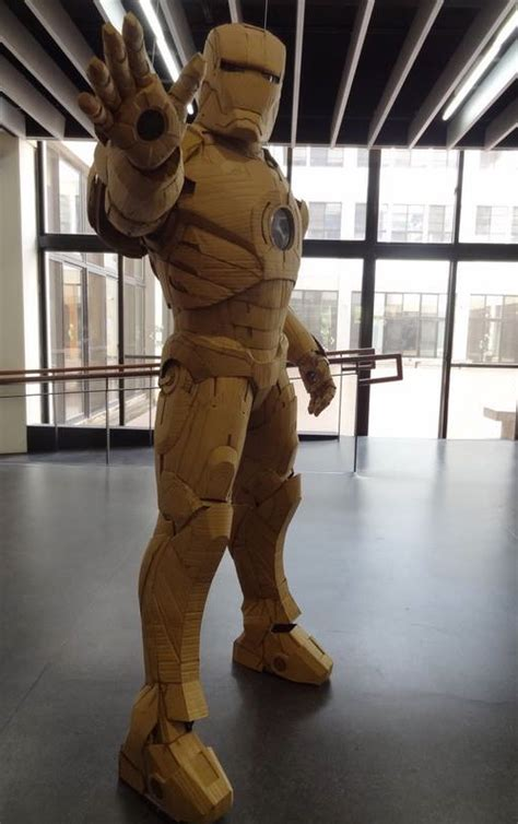 How To Make A Paper Iron Suit - wearable iron suit made out of cardboard nerdist