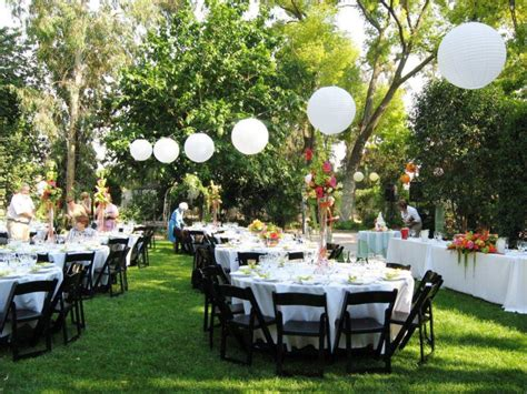 planning an outdoor wedding at home event decorating on a budget