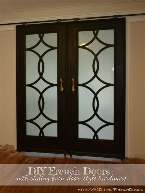 Picture Window Treatments by My Finished Sliding Barn Door Style French Doors
