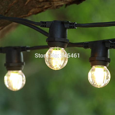 New 25ft 7 5m Black Commercial C9 E17 String Light Led Big Bulb Patio String Lights
