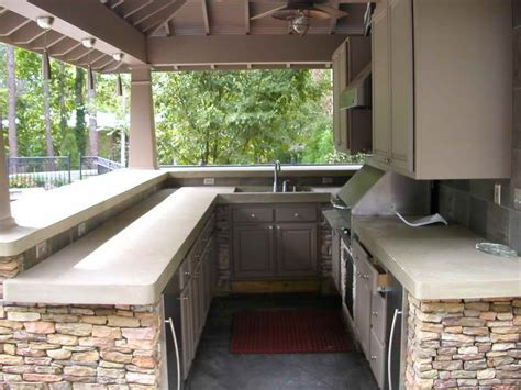outdoor how to pick outdoor kitchen countertop material