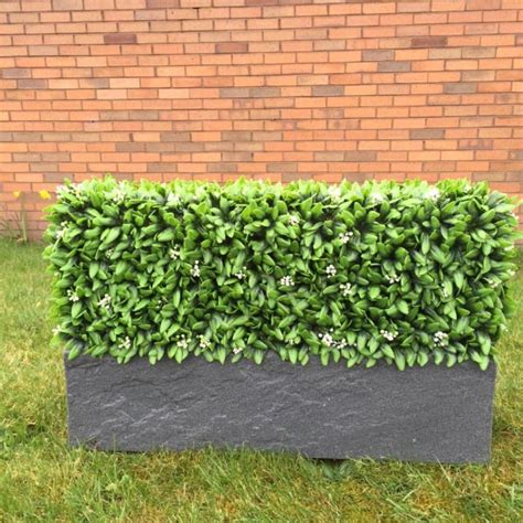hedged in artificial bespoke instant trough hedging