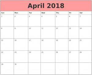 Calendar 2018 April August 2017 Calendar