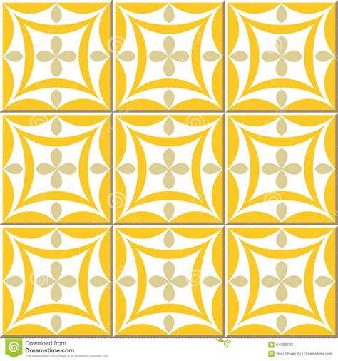 yellow pattern tiles vintage seamless wall tiles of yellow oval cross moroccan