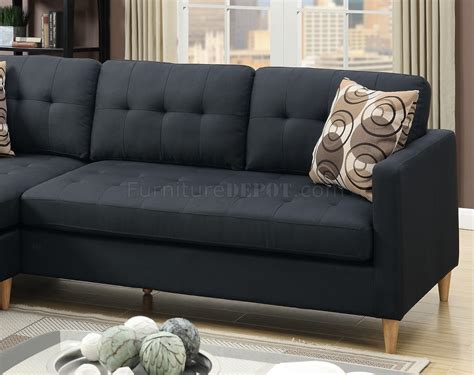 black fabric sectional f7084 reversible sectional sofa in black fabric by boss