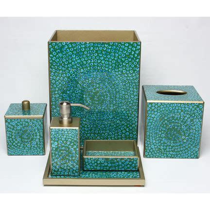 mosaic bathroom decor mosaic turquoise bath accessories by waylande gregory