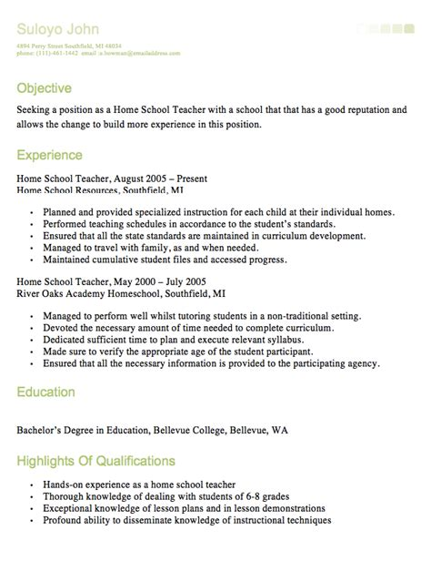 homeschool resume http resumesdesign