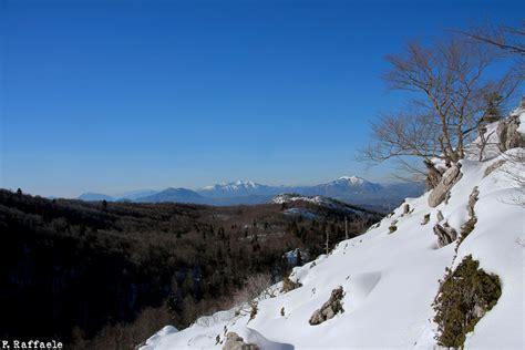 monte sirino web escursione invernale nel parco nazionale pollino