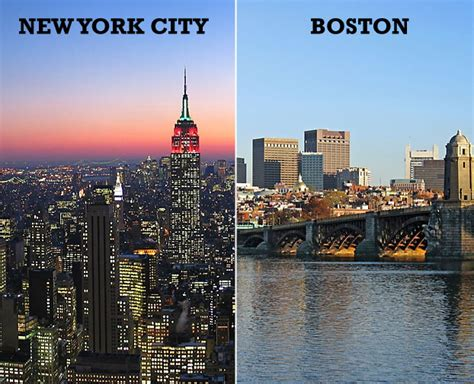 boston to new york outromundo boston vs new york