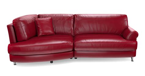 red leather chaise sofa dfs outline red leather left hand facing chaise end sofa