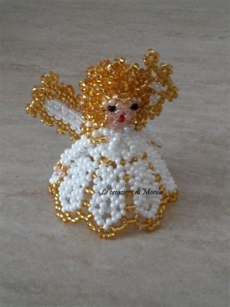 fiori con perline schemi gratis angelo di perline feste natale di le creazioni di