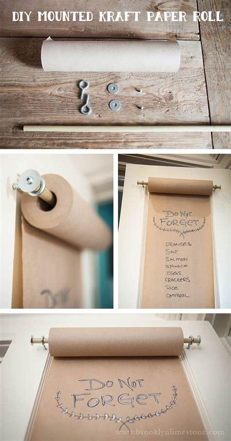 Kraft Paper Crafts - diy mounted kraft paper roll diy menu