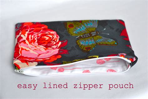 easy zippered pouch pattern november 2012 craft buds