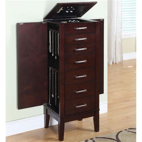 Jewelry Armoire Cabinet by Powell Espresso Jewelry Armoire Kitchensource