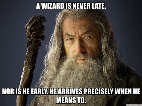 Wizard Memes - a wizard is never late