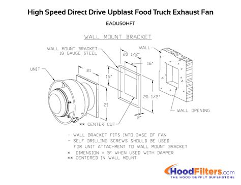 food truck exhaust fan 1500 cfm direct drive upblast food truck exhaust fan with