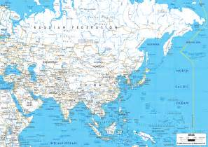 detailed clear large road map of asia ezilon maps