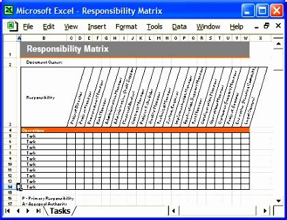 10 Roles And Responsibilities Matrix Template Excel Exceltemplates Exceltemplates Employee Roles And Responsibilities Template Excel