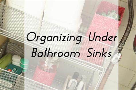 Organizing Bathroom Sink by Organizing Bathroom Sinks Heartwork Organizing