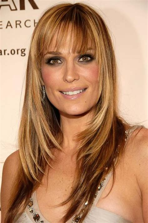 molly sims chin length for thin fine hair top 15 long layered haircuts