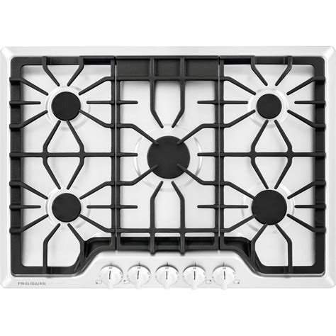 frigidaire 5 burner gas cooktop frigidaire gallery 30 in gas cooktop in white with 5