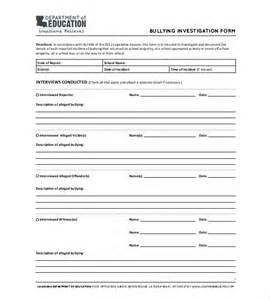 Employee Investigation Form Template by Investigation Report Templates 12 Free Sle Exle