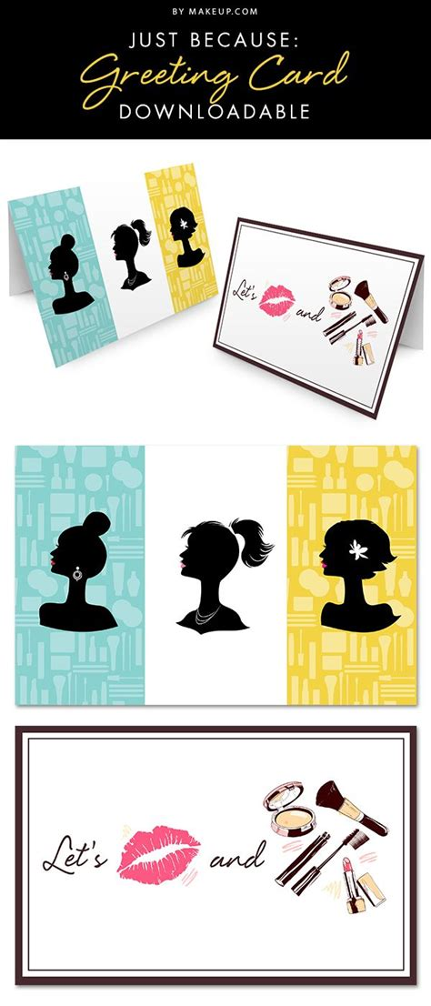 Just Because Greeting Card Template by Downloadable Just Because Greeting Cards Snail Mail