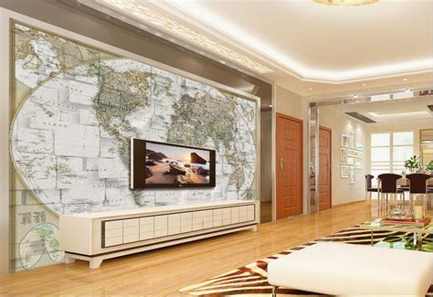 bedroom world free delivery code custom wallpaper 3d stereoscopic world map tv backdrop