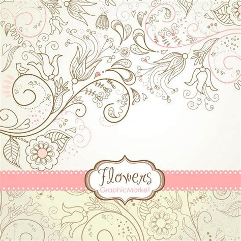 design invitation paper 8 flower designs digital paper and a floral border