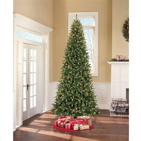 holiday time pre lit 9 williams slim artificial christmas