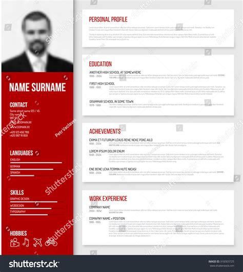 design cv profile vector minimalist cv resume template design with profile