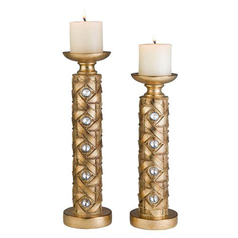 ore international 14 in and 16 in gold mahla candle
