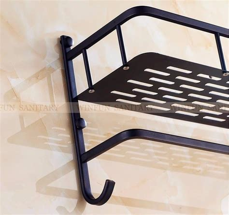 black towel racks bathroom brass black bathroom shelf single layer 40cm rack wall